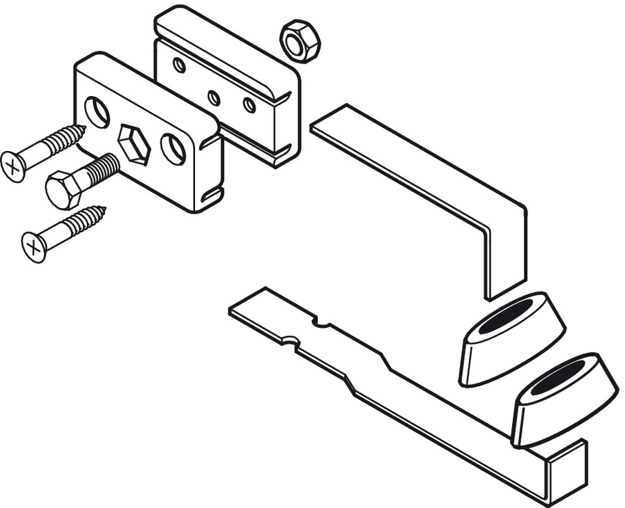 Bottom Door Guide, Adjustable, for Sliding Interior Doors
