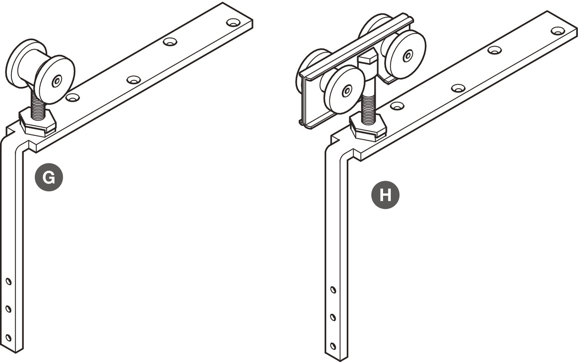 Trolley Hanger, for Folding Interior Partition Doors