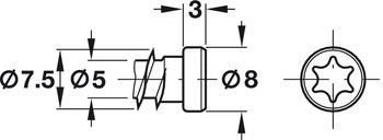 Kozijnschroef, met cilinderkop