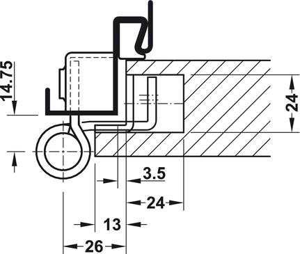 Balama de ușă arhitecturală,Simonswerk VN 8937/160 U
