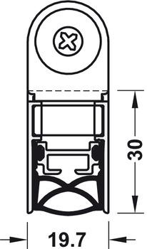 Retractable door seal, Schall-Ex Slide & Lock M-20 WS