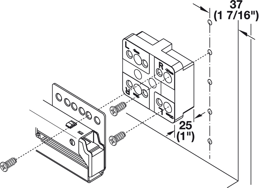 Spacer, For Häfele Matrix Box P internal drawer and
