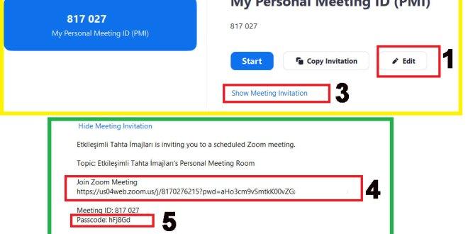 Eba'ya Harici Canlı Ders Ekleme-Zoom Sabit ID-Şifre Adres Alma – Alternatif Bağlantı