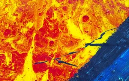S/T. Látex, pigmento y óleo sobre látex, 200x250, detalle. 1999.