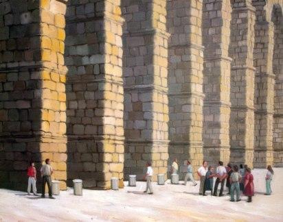 Acueducto, Segovia. Óleo sobre lienzo, 50x80. 1997. Colección privada.