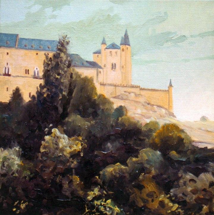 Alcazar, Segovia. Óleo sobre lienzo, 40x40. 1997. Colección privada.