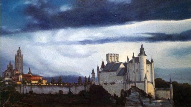 Alcazar, Segovia. Óleo sobre lienzo, 60x110. 1997. Colección privada.