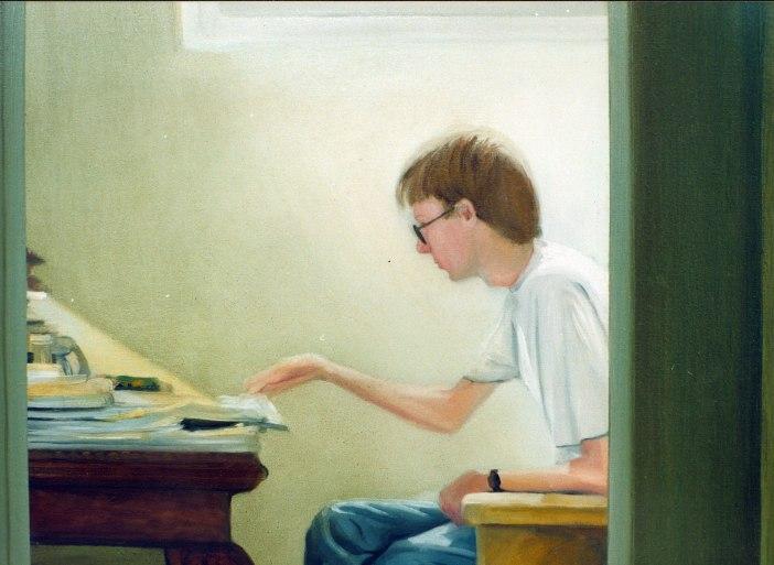 Allan. Óleo sobre lienzo, 75x55, detalle. 1999.