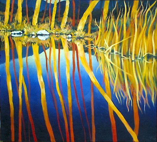 Reflejo. Óleo sobre lienzo, 200x200. 1992. Colección CSIC.