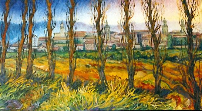Vitoria. Óleo sobre lienzo, 50x100. 1991.