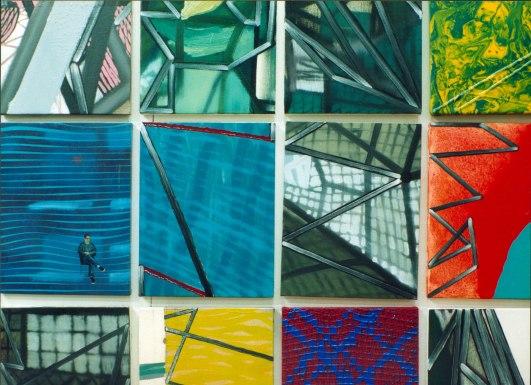 S/T. Acrílico y óleo sobre lienzo, 35x27, conjunto. 1999.