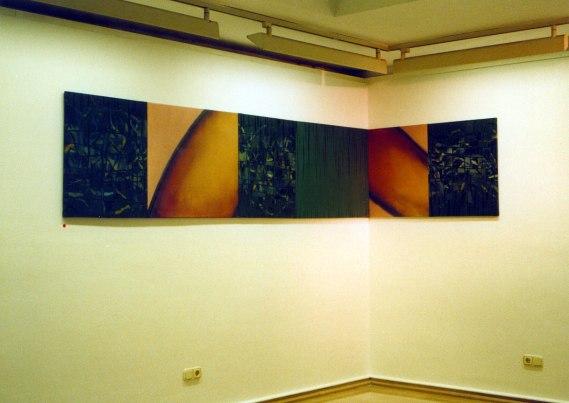 S/T. Óleo sobre lienzo, 50x220. 1996. Sala Araba.