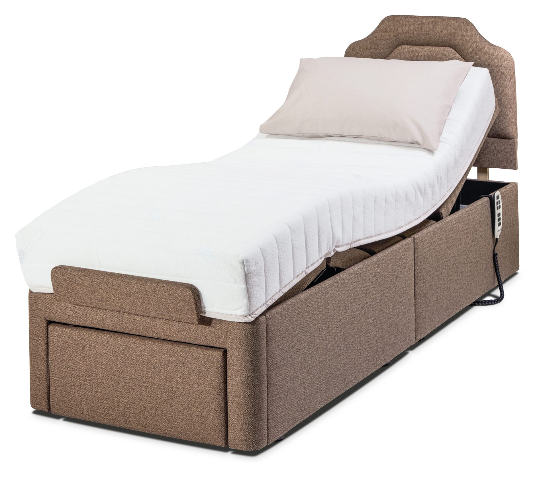 hight resolution of sherborne upholstery dorchester adjustable bed with deluxe mattress adjustable beds hafren furnishers