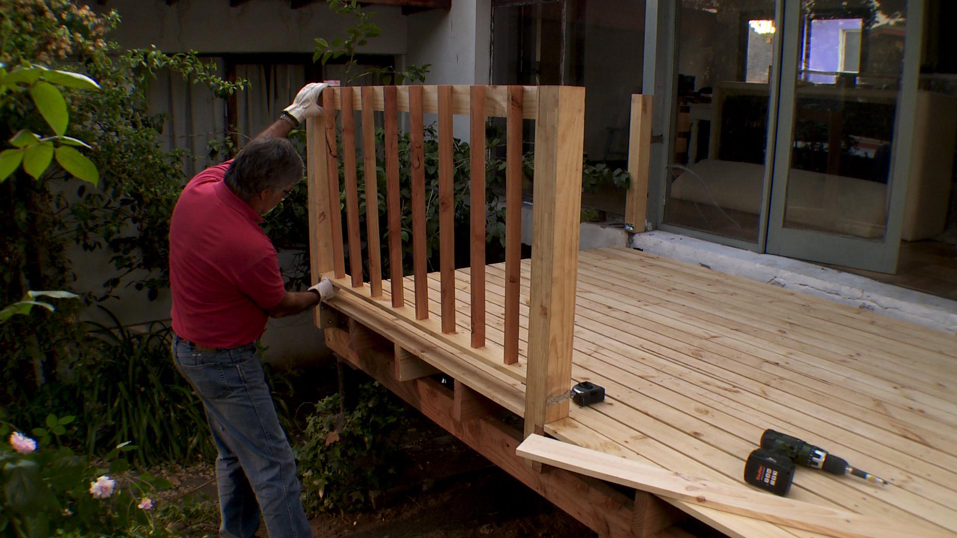 Hgalo Usted Mismo  Cmo construir una terraza de madera