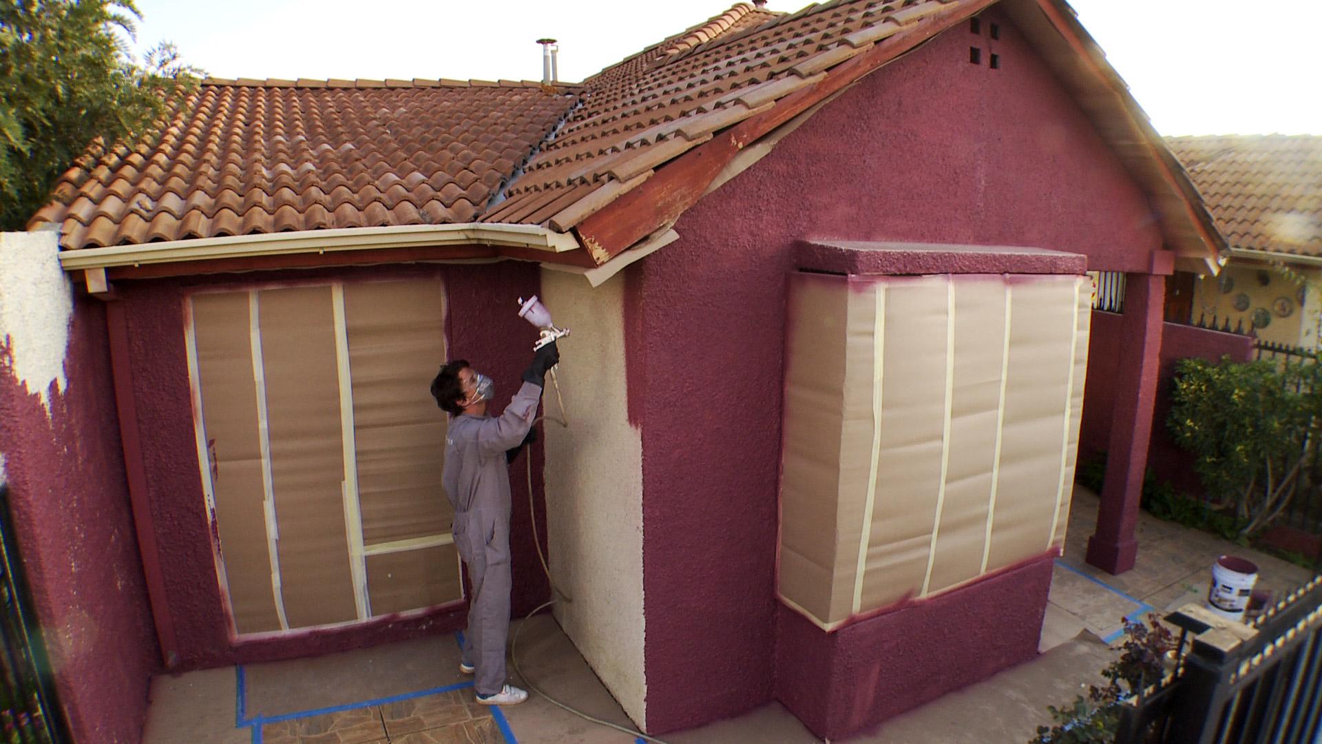 Hgalo Usted Mismo  Cmo pintar una fachada de martelina