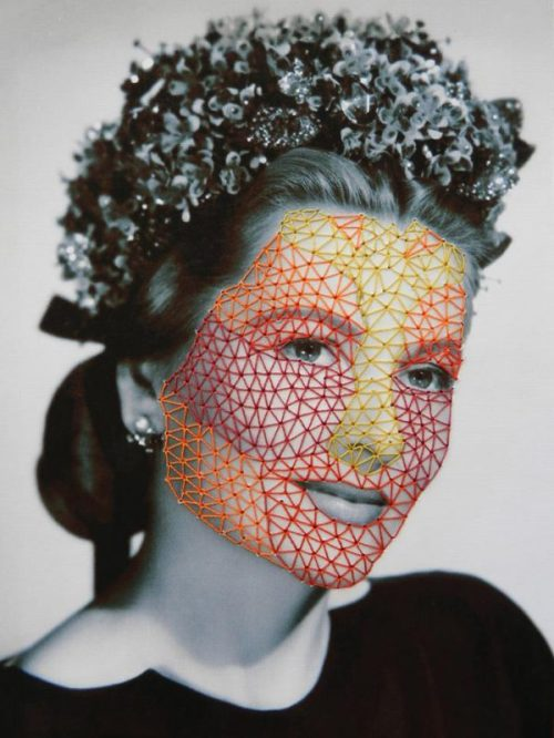 Sold. New Glory, 2012, embroidery on paper