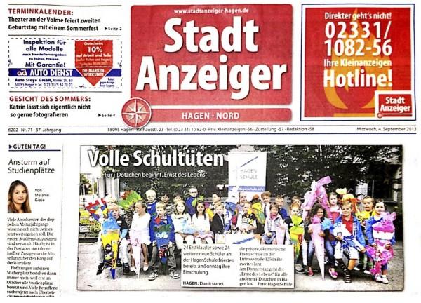 130904 Stadtanzeiger HagenSchule