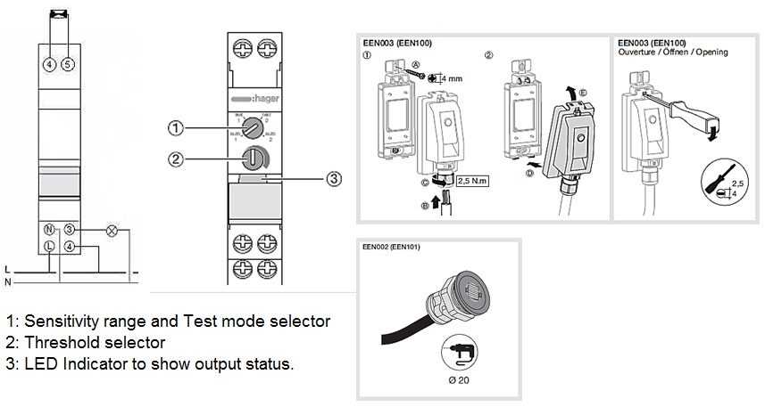 Lighting Wiring Diagram Australia New Light Sensitive Switch Hager