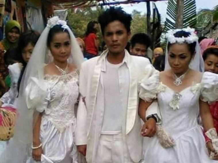 Beruntung sekali, pemuda ini bisa nikahi dua wanita idaman sekaligus
