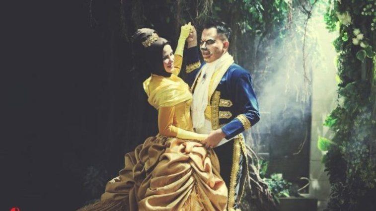 Demi memenuhi keinginan sang istri, Vicky Prasetyo kenakan kostum Ksatria Baja Hitam saat akad nikah