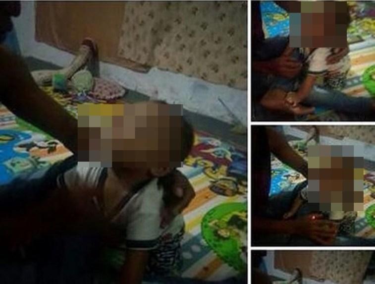 Jejalkan rokok ke mulut anaknya yang masih balita, pria ini bikin netizen geram, orangtua sableng!