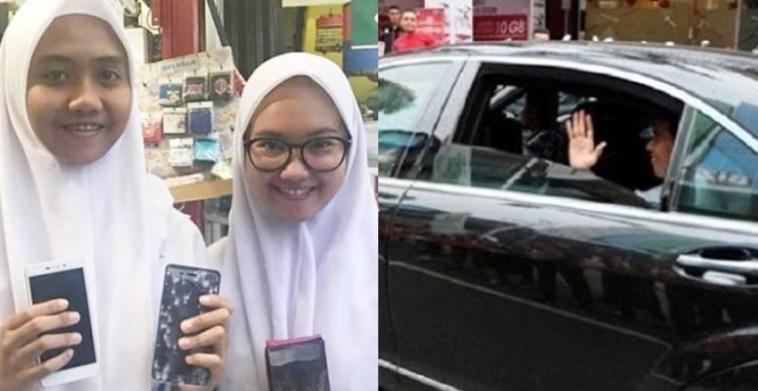 Ponselnya rusak tergilas mobil Jokowi, siswi SMP ini dapat ganti baru yang lebih canggih