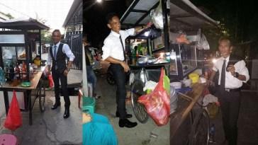Viral Mas Rinto si tukang bakso yang setelannya kaya karyawan bank