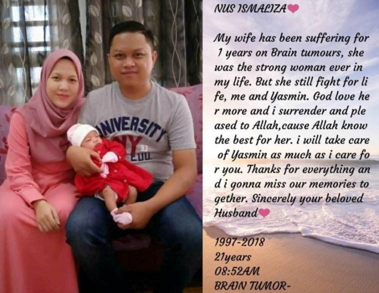 Meninggal akibat tumor otak, surat cinta terakhir dari suami untuk istri ini penuh terharu