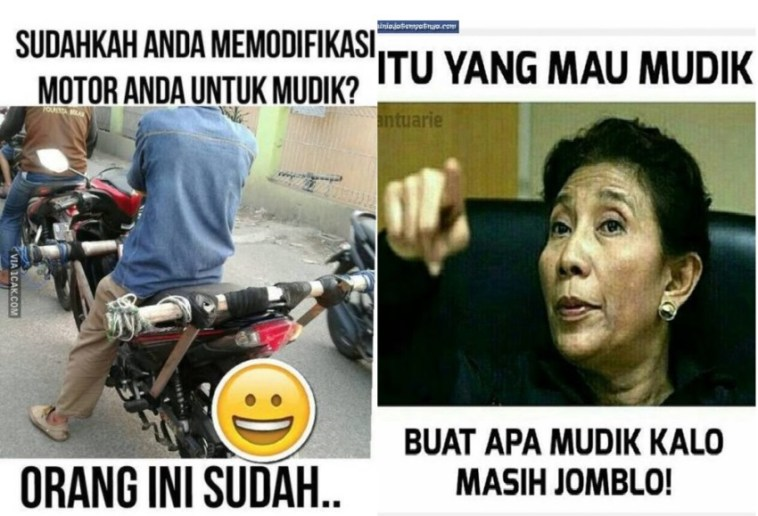 10 meme mudik kocak yang bikin perjalanan pulang kampung jadi meriah, bikin ngakak!