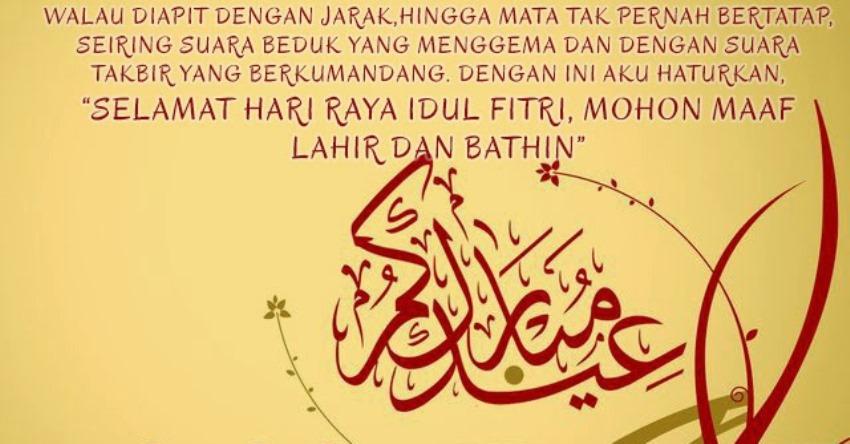 Kata Kata Ucapan Selamat Hari Raya Idul Fitri 1439 H Paling