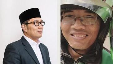 Heboh driver ojol mirip Ridwan Kamil, begini reaksi sang walikota