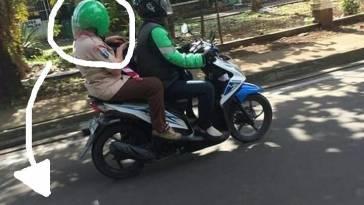 Momen kocak driver ojek online antar penumpangnya ini bikin ketawa ngakak