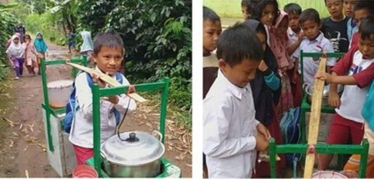 Kisah viral Erwin, bocah kelas 2 SD yang bersekolah sambil berjualan siomay