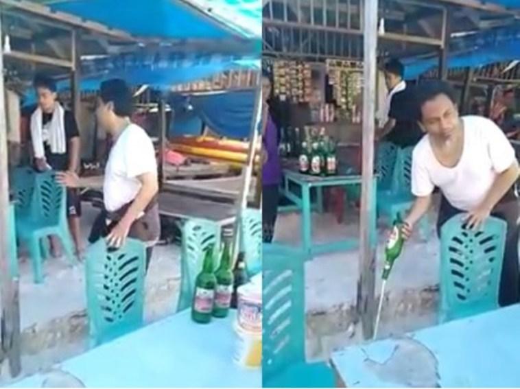 Video viral! Seorang ustadz memborong miras lalu ditumpahkan, aksinya bikin netizen kagum