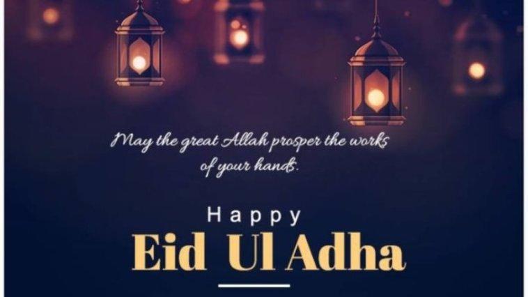 Gambar kata ucapan selamat Idul Adha bahasa Inggris
