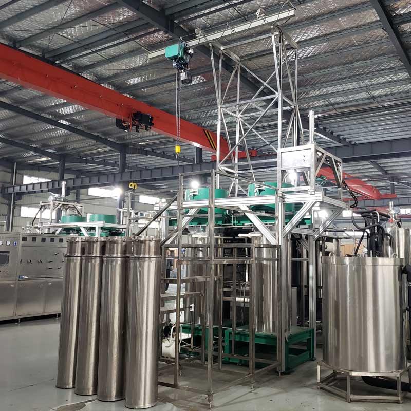 Supercritical fluid system production workshop