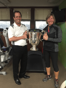 Trophy with Karen and Mark