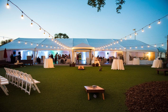 Haggin Oaks Pavilion in the early evening