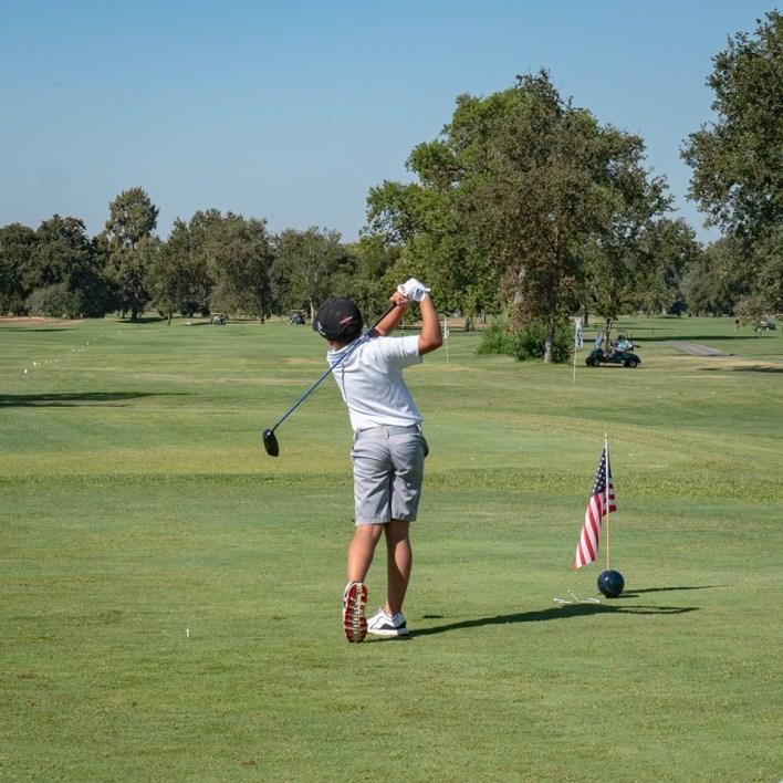 Drive, Chip & Putt Sub-Regional at the Haggin Oaks Golf Complex on August 13, 2019, featuring a junior golfer.