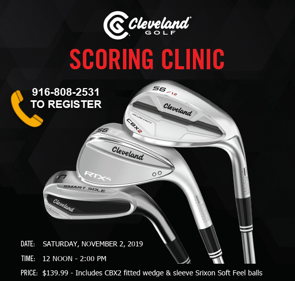 Cleveland Golf Scoring Clinic coming to Haggin Oaks on November 2, 2019
