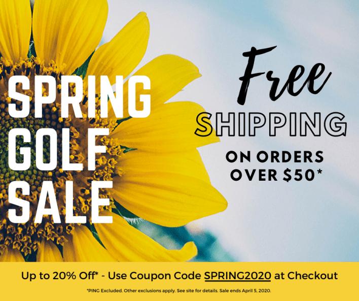 Spring Golf Sale at MortonGolfSales.com Savings Up to 20% Off - Now through April 5, 2020