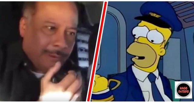 Homero Simpson saluda por sorpresa a pasajeros durante vuelo