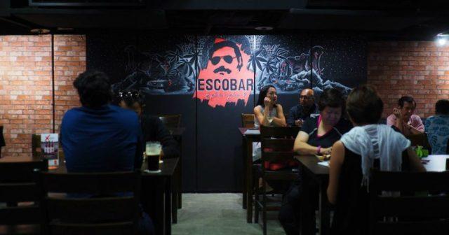Restaurante en Singapur llamado Escobar