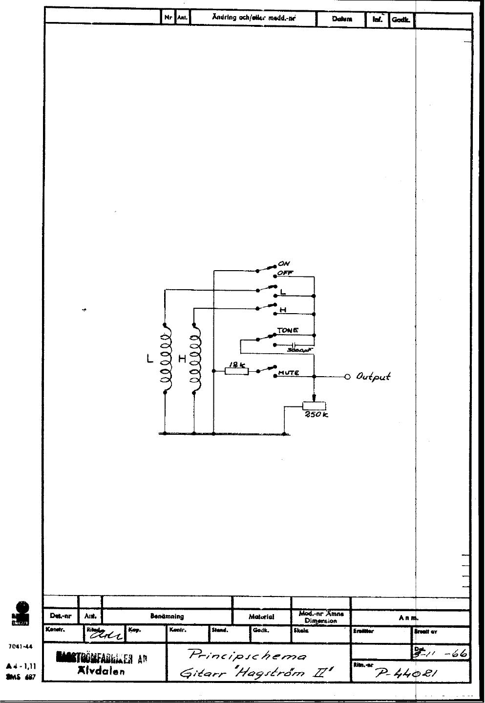 hagstrom swede wiring diagram in parallel schematics ii 1966 era colour courtesy of eric bergman