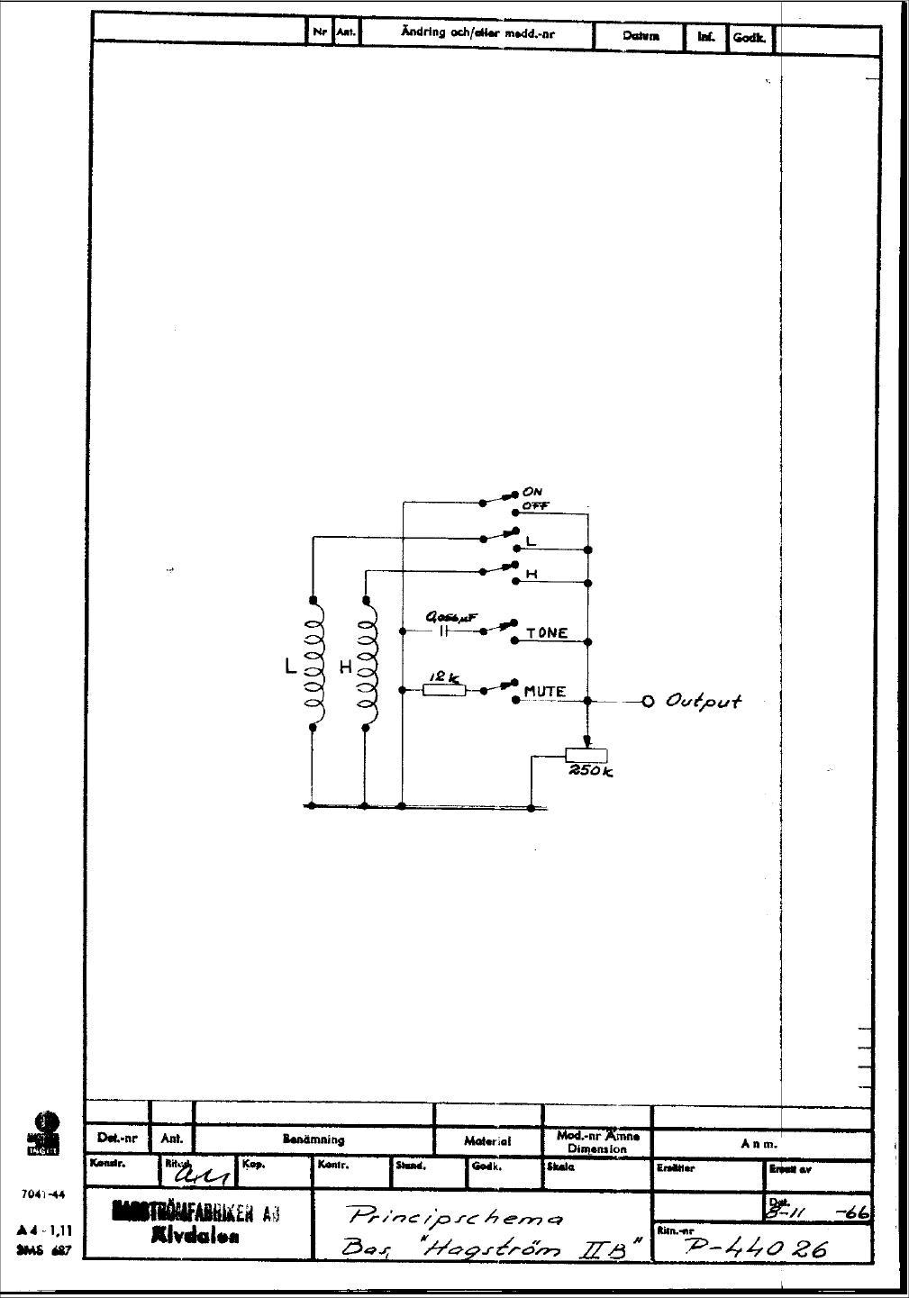 Hagstrom Guitar Wiring Diagram : Hagstrom wiring diagrams danelectro diagram