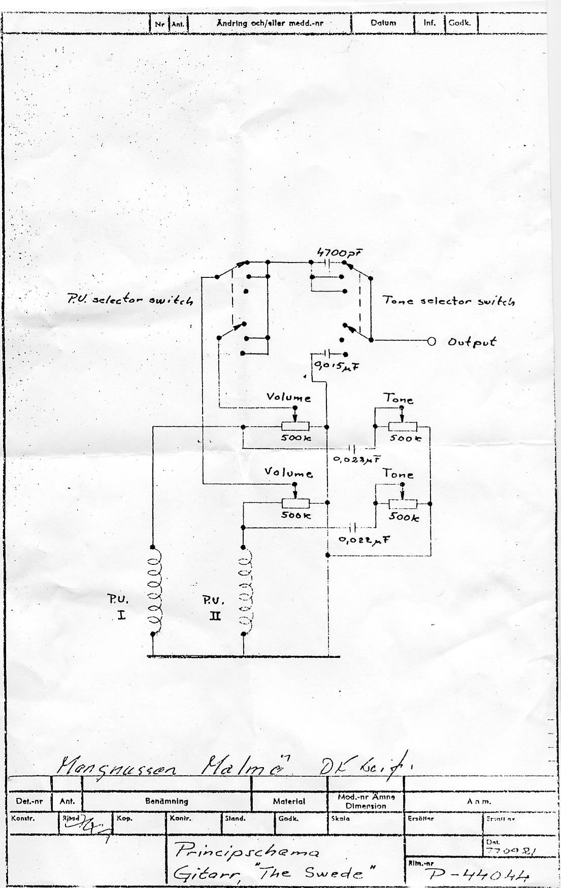 Hagstrom Guitar Wiring Diagram Tciaffairs