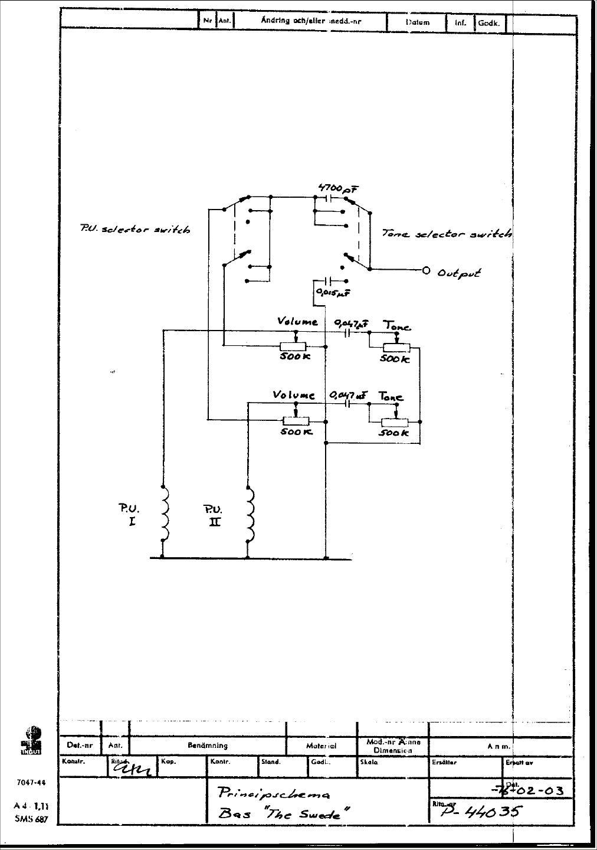 Hagstrom Guitar Wiring Diagram : Hagstrom super swede wiring diagram diagrams