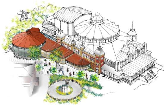 arkitektbild av förslagen utbyggnad