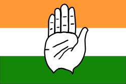 vit handflata på indisk flagga