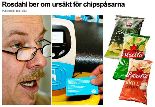 Christer G Wennerholm, tunnelbanespärr, chipspåsar